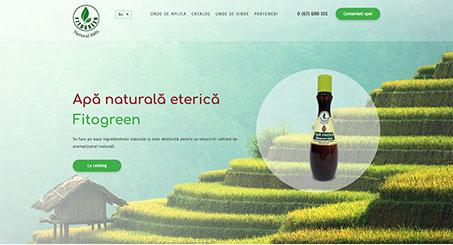 Лэндинг для нового продукта fitogreen.md