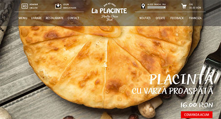 Website for the chain of restaurants La Placinte